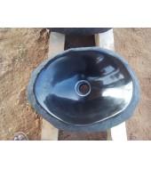 Black Marble Oval Polished Washbasin