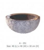 Black Marble Inside Polished Round Washbasin