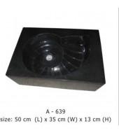 Antique Design Black Marble Washbasin