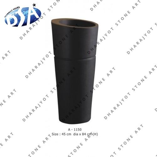 Black Antique Shape Standing Washbasin