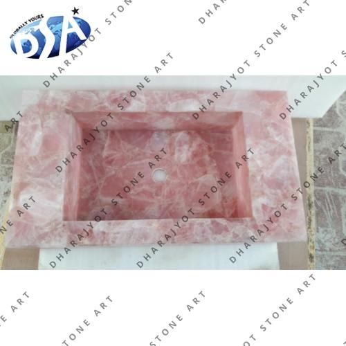 African Rose Quartz Washbasin
