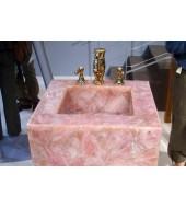 Pink Square Quartz Washbasin