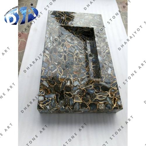 Natural Agate Quartz Washbasin