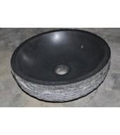 Antique Black Granite Stone Round Washbasin