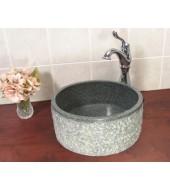 Antique Granite Stone Round Washbasin Sink