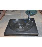Antique Polished Black Granite Sink