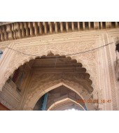 Antique Designed Pink Sandstone Arch