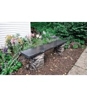 Grey Natural Stone Decorative Bench