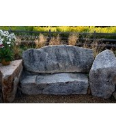 Grey Stone Bench for Outdoor