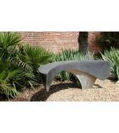 Modern Black Marble Garden Bench