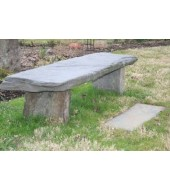 Grey Natural Stone Outdoor Bench
