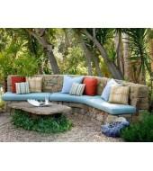 Yellow Natural Stone Garden Bench