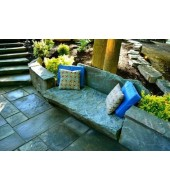 Grey Stone Outdoor Bench