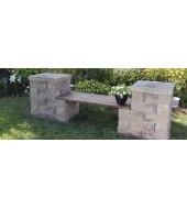 Mint Stone Garden Bench