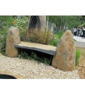 Yellow Natural Stone Outdoor Bench