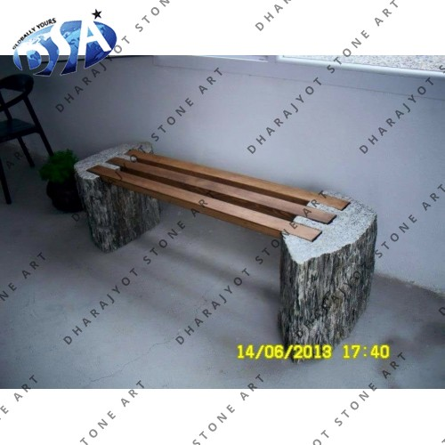 Brown Seating Bench With Black Base