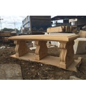 Yellow Sandstone Decorative Bench
