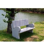 Grey Granite Outdoor Bench