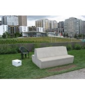 White Marble Simple Bench