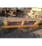 Yellow Marble Bench