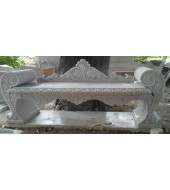 White Marble Decorative Bench