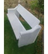 Grey Granite Garden Bench