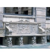 Culture Carved Marble Bench With Mesh Back And Animal Leg
