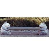 Granite Garden Sculpture Leg Bench