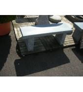 Granite Top Garden Bench