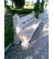 Light Pink Stone Garden Bench