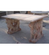 Marble Garden Animal Leg Table Bench