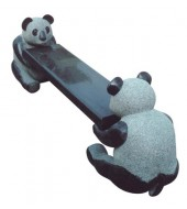 Natural Granite Bear Animal Leg Garden Bench