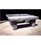 Simple Marble Outdoor Bench