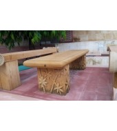 Solid Sandstone Carved Stone Bench For Garden Decor