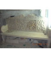 Stone Carving Furniture Backed Outdoor Decor Bench