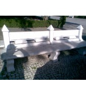 White Light Pink Marble Backed Bench