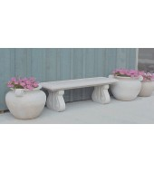 White Marble Small Straight Bench