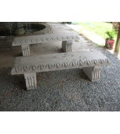 White Marble Stone Garden Bench