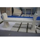 White Marble Stone Garden Furniture Modern Stone Bench