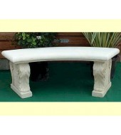 White Marble With Carved Leg Stone Garden Bench