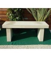 White Stone Simple Seat Bench