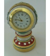 White Marble Table Antique Clock