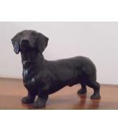 Black Marble Dog Statue