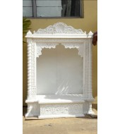 Antique Design White Marble Mandir
