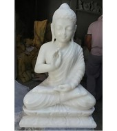 White Marble Buddha