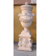 Pink Carved Sandstone Finials