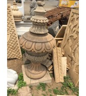 Antique Yellow Sandstone Finials