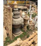 Antique Grey Sandstone Finials