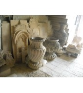 Carved Sandstone Decorative Finials