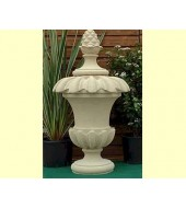 Carved Sandstone Pole Finials